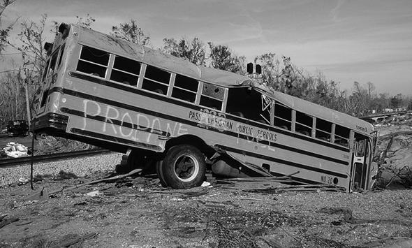 Post-Katrina Schoolbus by laffy4k (CC-BY-2.0)